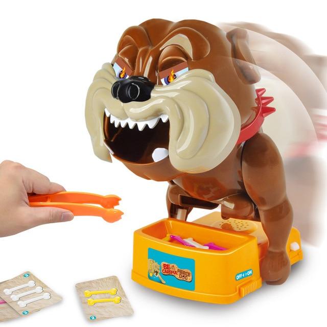 Divertidos Gadgets Bulldog Boca Mordedura Del Dentista De Dedo Juego