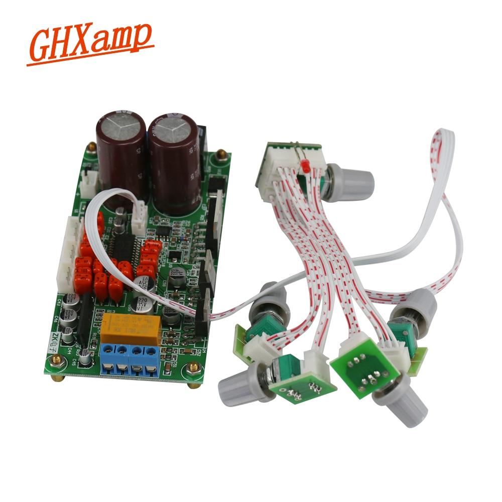 Ghxamp 2 1 Subwoofer Amplifier Board LM1875 +TDA7265 Amp 15W+15W+40W 8OHM  Speaker BTL Bass Output Dual AC 12V With Cooling