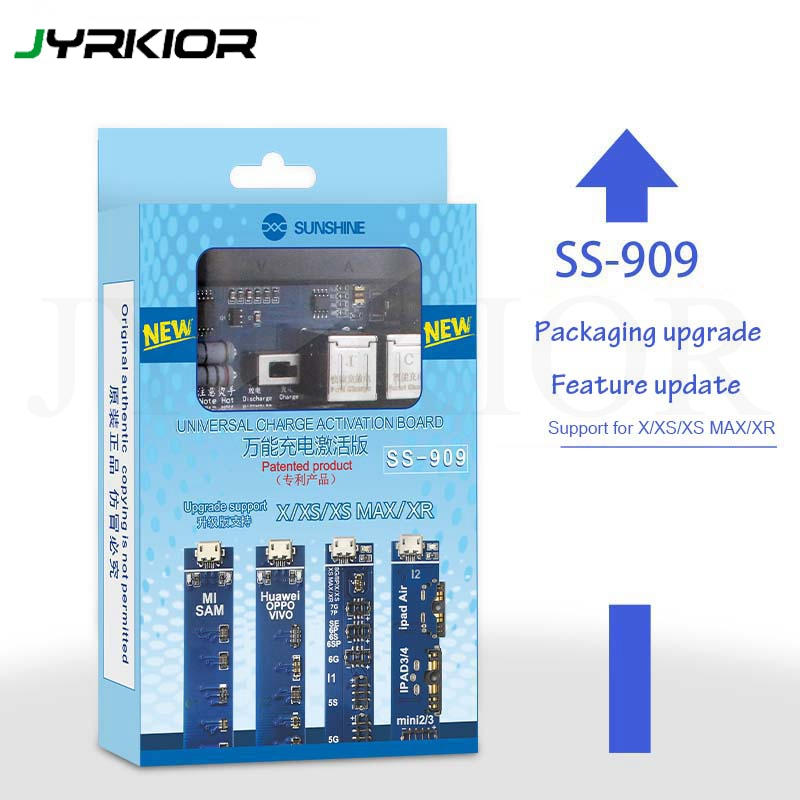 Jyrkior Unversal Battery Tester/Charger Battery Activation Charge PCB Board For IPhone 8 8 Plus X XR XS MAX Samsung Huawei IPad