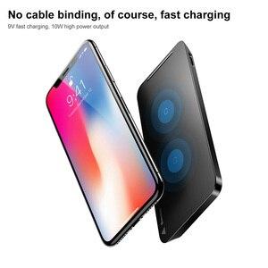 Image 4 - Baseus kablosuz şarj iPhone 11 Pro Max X Xr Samsung S9 not 8 9 hızlı kablosuz kablosuz şarj pedi yerleştirme Dock istasyonu