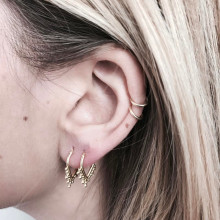 4pcs/Set Trendy Gold Color Geometric Stud Earrings For Women Best Female Party Jewelry Wholesale Dropship