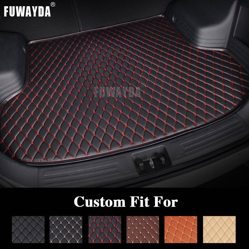 FUWAYDA car ACCESSORIES Custom fit car trunk mat for for Peugeot 207 all the years  travel non-slip  waterproof Good quality 3d trunk mat for peugeot 508 waterproof car protector carpet auto floor mats keep clean interior accessories