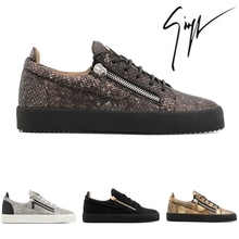 e344fdb9370 Giuseppe x zanotti diseño zapatillas de piel de serpiente baja superior  para hombres Zapatos casuales Zapatos