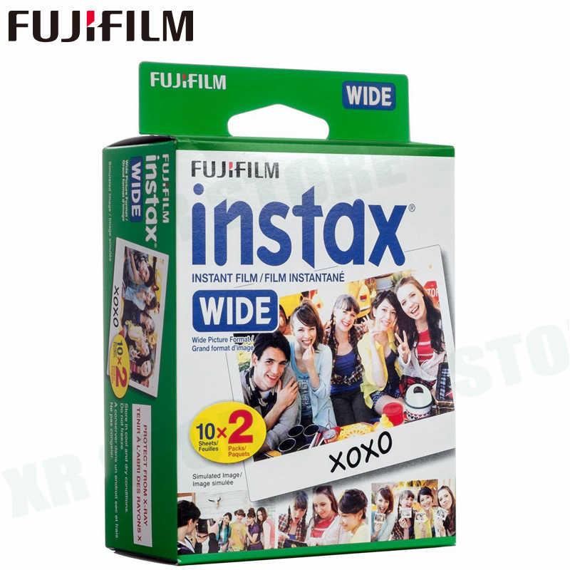 10-100 filmy Fujifilm Instax Wide natychmiastowa biała krawędź monochromatyczne filmy do aparatu Fuji 100 200 210 300 500AF Lomography photo