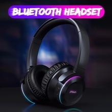 Picun B9 Opvouwbare Draagbare Draadloze Bluetooth 5.0 Hoofdtelefoon LED Headset Touch Control oortelefoon Met MICROFOON TF Card voor mobiele telefoon