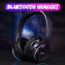 Picun B9 składany przenośny bezprzewodowy zestaw słuchawkowy Bluetooth 5.0 słuchawki LED sterowanie dotykowe słuchawki z mikrofonem karta TF na telefon komórkowy