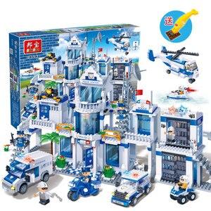 Image 5 - Banbao City Serie Politie Station Helicopter Auto Bricks Educatief Bouwstenen Model Speelgoed 8353 Voor Kinderen Kids Geschenken