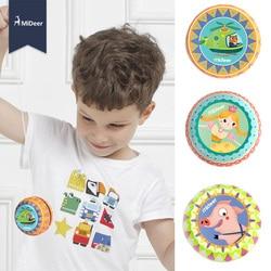 Mideer Tin Leuke Animal Prints Metalen Magic Yoyo Spin Educatief Kids Jojo Creatieve Klassieke Speelgoed Voor Kinderen Kerst gift