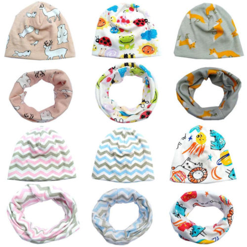 Baby Cotton Hat Scarf Sets Spring Kids Cap Collar Boys Girls Warm Beanies Scarf  2019 Hot Sale  Baby Hat Scarf Sets New