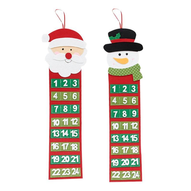 felt christmas advent calendar pendant countdown number. Black Bedroom Furniture Sets. Home Design Ideas