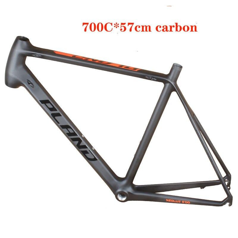 Dernier 1130g 2019 nouveau cadre de vélo de route en carbone en forme de tube et cadre mécanique vélo de route en carbone 700C 54 cm 57 cm cadre de vélo