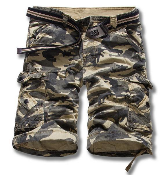 New 2018 MenS Fashion Hot Sale Loose Large Size Shorts Bermuda Masculina Men Casual Beach Shorts Military Camouflage