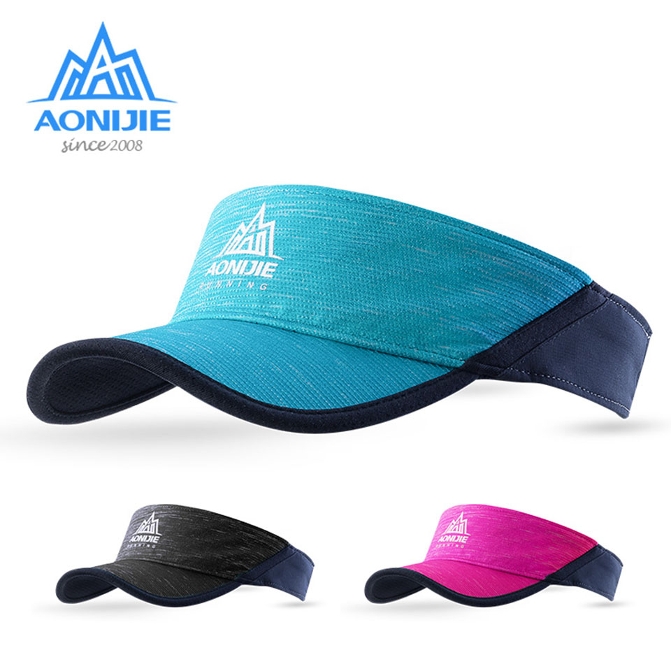 AONIJIE Women Men Outdoor Running Empty Top Hat Sport Marathon Visor Cap Ultralight Quick Dry Camping Hiking Anti UV Caps стоимость