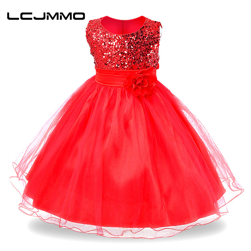 LCJMMO New Girls dress Baby Princess Dresses Summer Party New Year Clothes for girls Sleeveless Flower Wedding Christmas dress new year flowers flower dresses for wedding party baby girls christmas party princess clothing children summer dresses