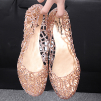 2015 Summer Slippers New Flip Flops Women Sandals Sparkling Crystal Jelly Shoes