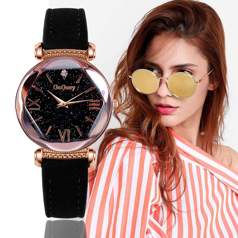 Gogoey Women's Watches 2018 Luxury Ladies Watch Starry Sky Watches For Women Fashion Montre Femme Diamond Reloj Mujer 2018 Saat sinobi luxury diamond watch women watches metal mesh ultra thin women s watches ladies watch clock saat montre femme reloj mujer