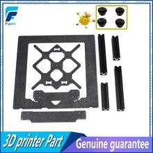 Klon orijinal Prusa i3 MK3 3D yazıcı parçaları alüminyum alaşım çerçeve Y arabası ön ile arka plaka + alüminyum siyah profil kit...