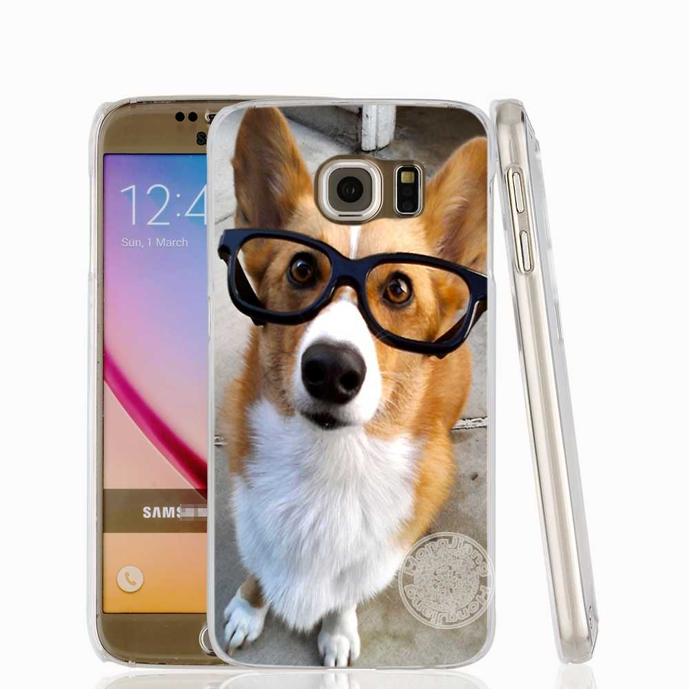 on sale eb2fd f358d HAMEINUO pembroke welsh corgi puppies cell phone case cover for Samsung  Galaxy S7 edge PLUS S8 S6 S5 S4 S3 MINI