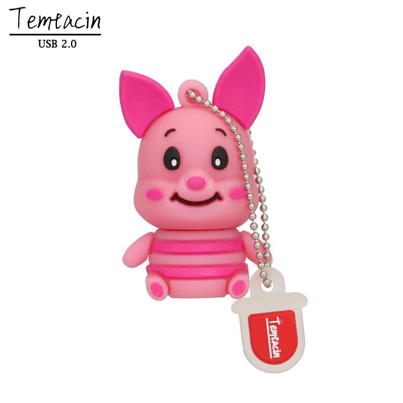 Nykomna Söt Pig Pen Drive Tigger Åsna USB Flash Drive Animal - Extern lagring - Foto 3