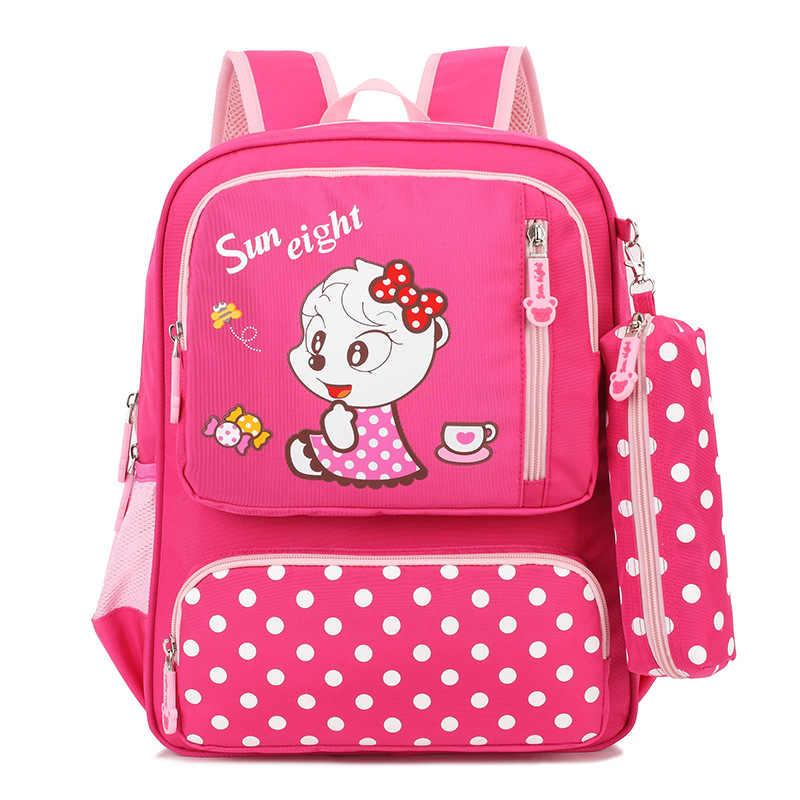 Детские школьные сумки для девочек рюкзак для начальной школы детские рюкзаки с мультяшным принтом детский рюкзачок с принцессой сумка для детей