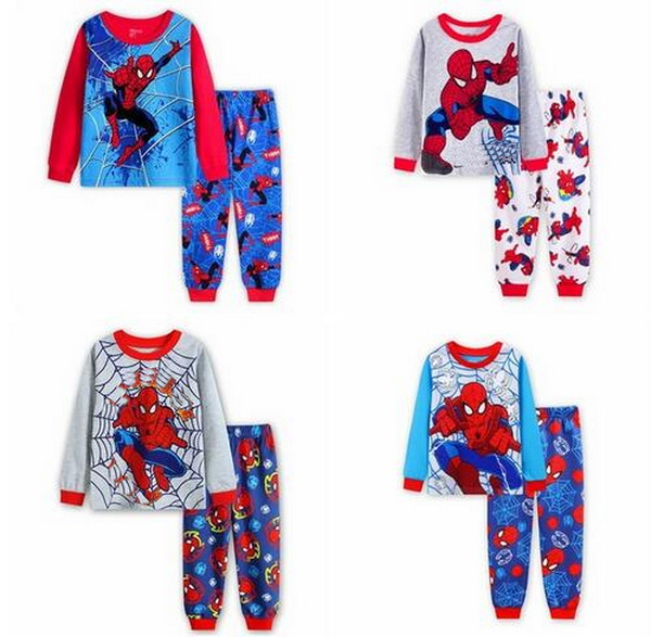 Boys Pajamas Cosy Rib Long Sleeves Toddler Clothes Letter Kid Pjs Sleepwear