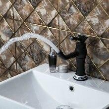Масло втирают Черный Бронзовый diamond поворотной ручкой носик 97103 раковина туалет Кухонные смесители torneira, смесители и краны