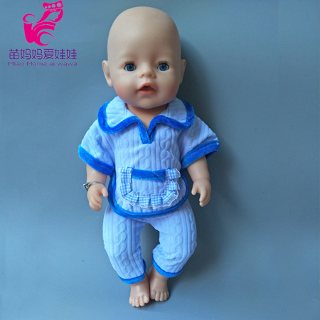Zapf Baby Born Doll Clothes Blue close and pant set fit 43cm Doll Baby Born Doll Accessories Birthday Gift christmas sweaters pant doll clothes wear fit 43cm baby born zapf 18 american girl doll clothes children best birthday gift