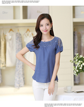 100% хлопок простой пустой дешевая работа женское, с коротким рукавом Обычная футболка Размер S-XXL — ZIJI-BU