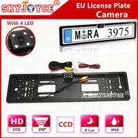 EU RU Front License Plate Frame Camera HD CCD Waterproof Car Camera Front Rear View Camera