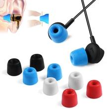 1ペアT100 T200 T400イヤホンヒント泡スポンジ耳パッドヘッドフォン3/5ミリメートル口径ヘッドセットアクセサリーを分離するノイズ耳栓