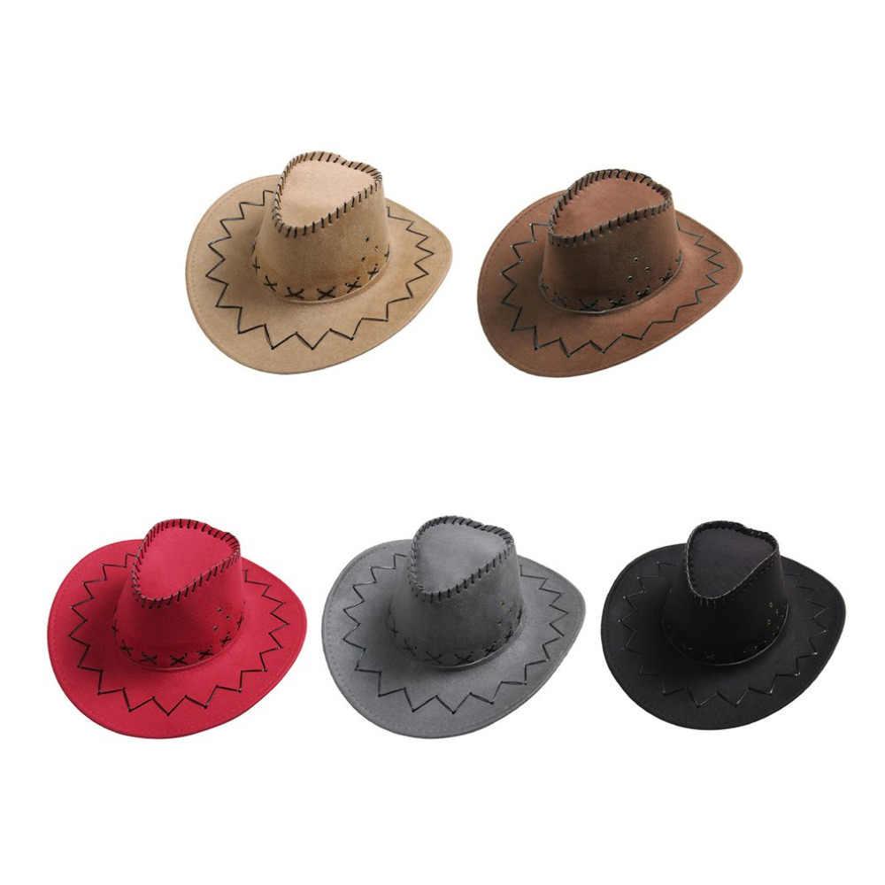 Moda tasarım nefes erkekler kadınlar kovboy tarzı şapka yaz açık seyahat Cowgirl kovboy batı şapkalar kap