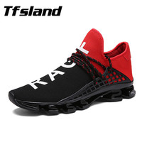 Tfsland Women Men Net Surface Zapatillas Chaussures Breathable Casual Shoes Running Sports Flat Bowling Shoes Fashion
