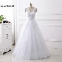 New Arrival Vestido de noiva White Lace Wedding dress 2018 Fashion Wedding dresses Brautkleid vestido branco casamento