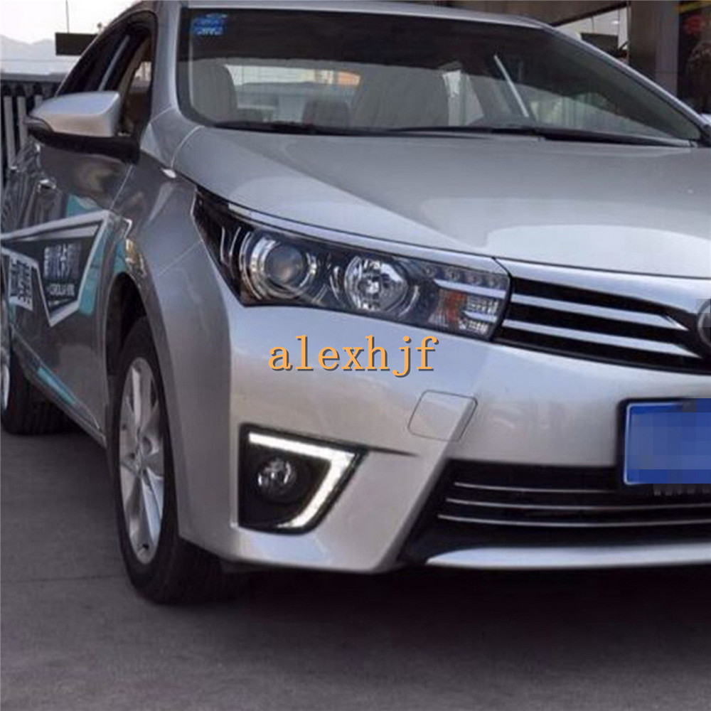 July King LED Daytime Running Lights DRL With Fog Lamp Cover, LED Fog Lamp Case for Toyota Corolla 2014~ON EU, 1:1 Replacement no 1 d6 1 63 inch 3g smartwatch phone android 5 1 mtk6580 quad core 1 3ghz 1gb ram gps wifi bluetooth 4 0 heart rate monitoring