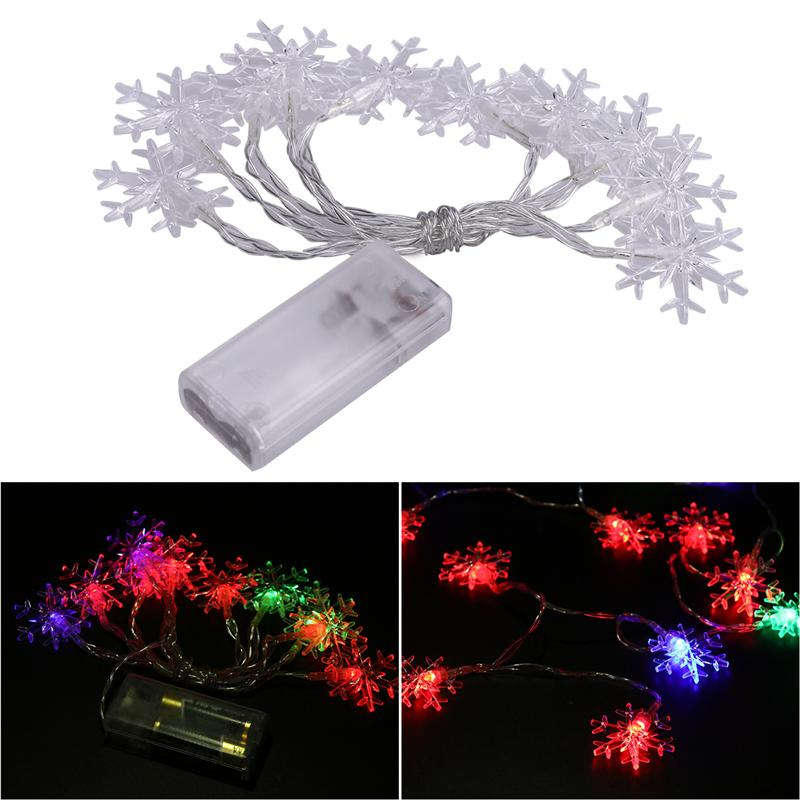 1.5m 10 LED String Lights Battery Operated Waterproof Fairy Light String for Christmas Wedding Decoration (Multicolor Light)