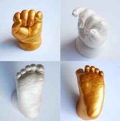 3D руки и ног печати плесень для ребенка косметическая пудра гипсовая отливка комплект отпечаток ноги Keepsake подарок роста ребенка мемориал