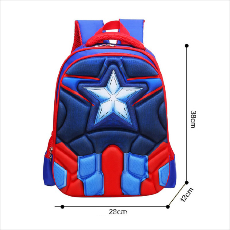 Hot High Quality Eva 3d Captain America Children School Bags Boy Spiderman School Backpack Suitable For 6-12 Years Old Kids Bag #3