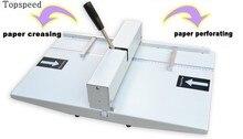цена на 2020 New Hand Paper Creasing Machine and Perforating Machine 2 in 1 Combo 340mm