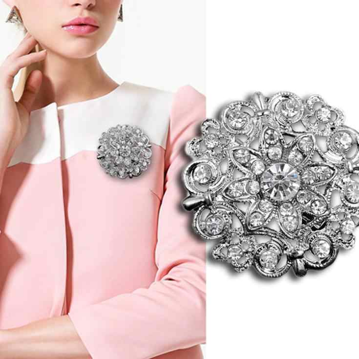 Fashion New Style Women Wedding Bridal Rhinestone Crystal Brooches Brooch Jewelry