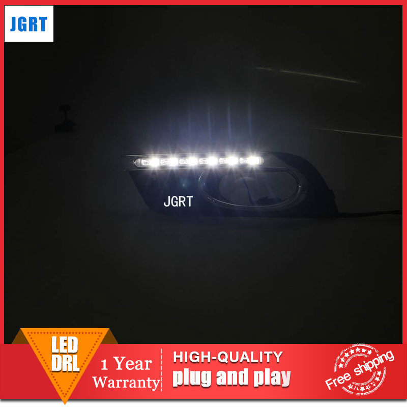 car styling 2011-2013 For Honda Civic LED DRL For Civic led fog lamps daytime running light High brightness guide LED DRL for lexus rx gyl1 ggl15 agl10 450h awd 350 awd 2008 2013 car styling led fog lights high brightness fog lamps 1set