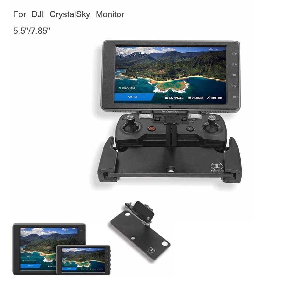 """For DJI CrystalSky 5.5//7.85"""" FPV Monitor Screen Film Protector Mount Bracket"""