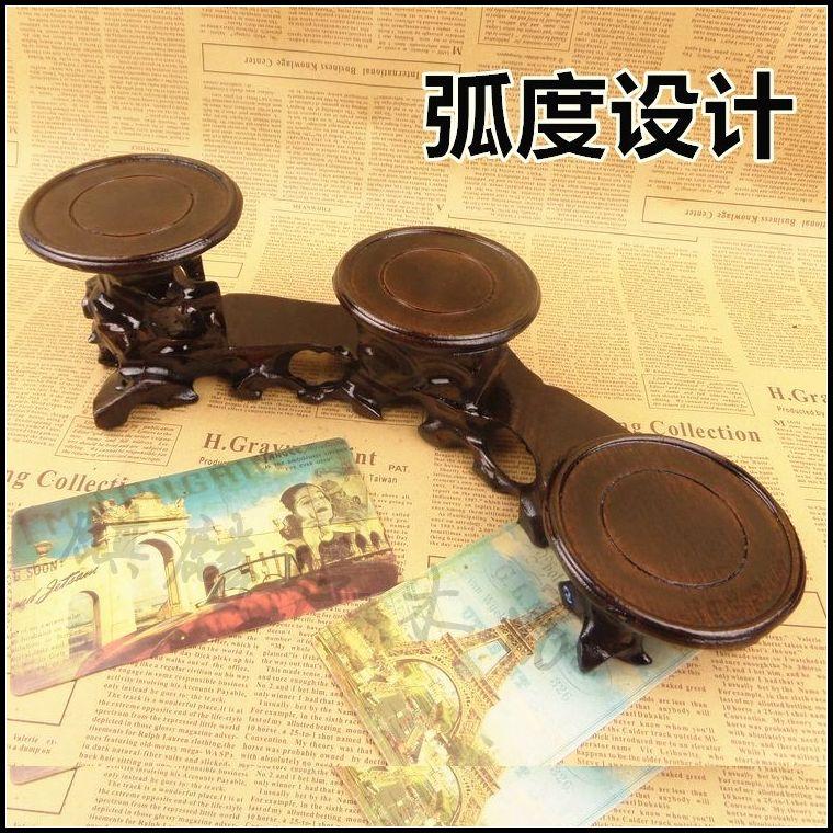 Kylin palissandre artisanat bois sculpture sur pierre jade théière peut chanfrein base circulaire niveau thé plateau