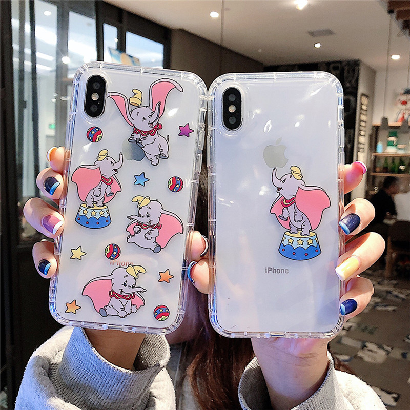 Phone Bags & Cases Cartoon Moon Dumbo Elephant Liquid Case For Samsung A50 A30 A10 M20 M10 J3 J4 J6 J8 A6 A7 A8 A9 2018 S10 Lite S9 S8 Plus S7 Edge Cellphones & Telecommunications