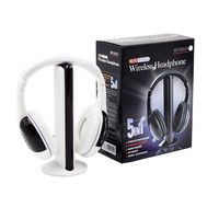 New High Quality 5 In1 Wireless Hi Fi Headphone FM Radio Chatting Monitor Wired Noise Cancelling