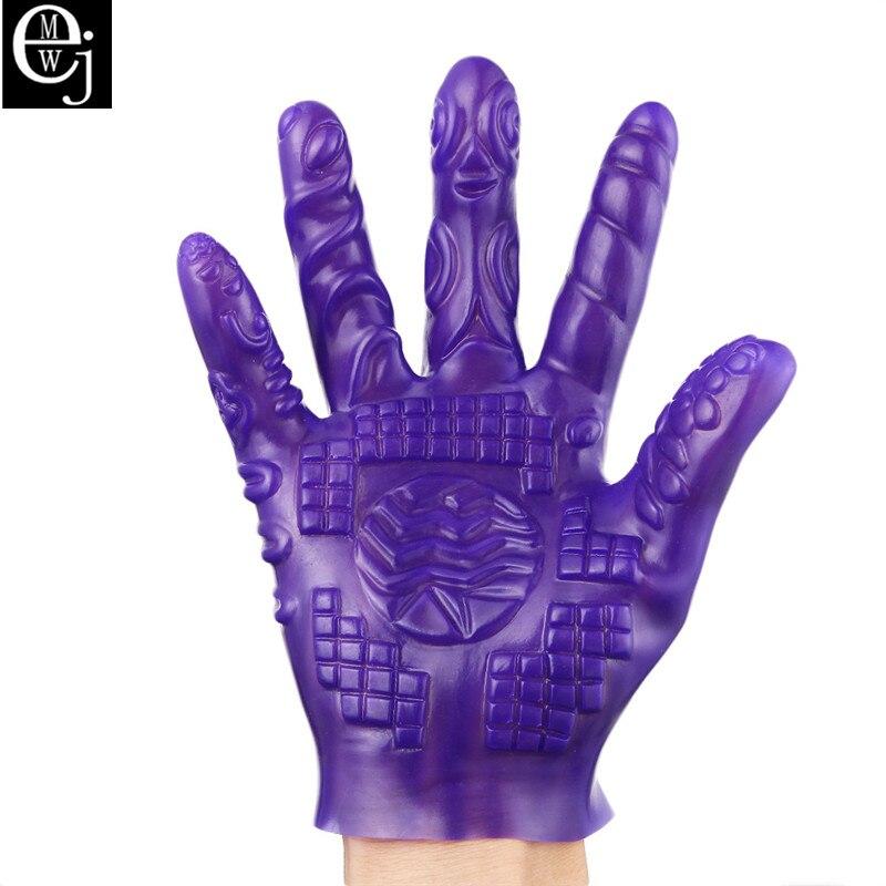 EJMW Sex Toys For Women PVC Glove Sexual Magic Masturbation BDSM Toys Sex Products Masturbation climax glove