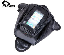 CUCYMA Motorcycle Bag Waterproof Motor Tank Bag Black Oil Fuel Tank Bag Single Shoulder Bag Black Magnetic Motorbike Saddle Bag