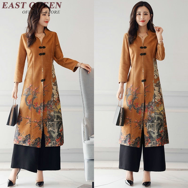 Us 58 3 45 Off Aliexpress Vintage Fl Modern Qipao Dress Oriental Style Casual Business Women Clothing Two Piece Set Top And