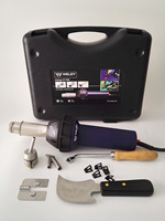 Weldy Professional 1600W Hot Blast Torch Overlap Air Welding Gun Welder Pistol Tool Hot Air Gun PVC flooring welding tool kit