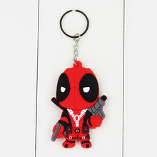 5pcs lot Marval Anime X MAN Deadpool PVC Keychain Toys Action Figures Toy Dolls For Collections