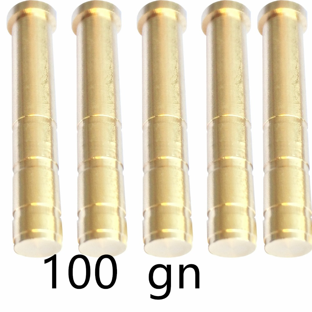 150 pieces 100grain and 75grain copper inserts for 6 2mm carbon arrow with field tips for